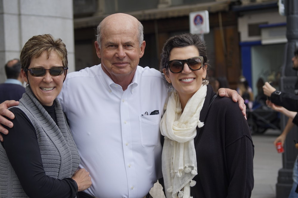 Becky and Dave Stockett with Isabel in Madrid 2018