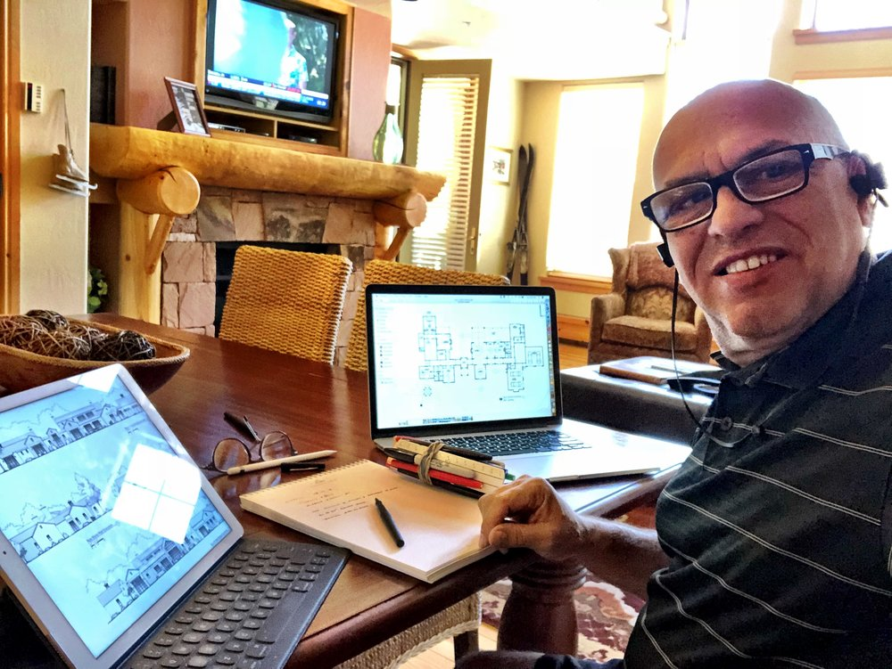 Cranking away on a GOTO meeting from my Deer Valley Headquarters - 2018