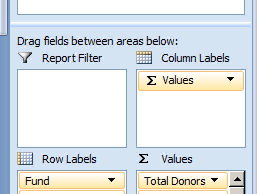 Raiser's Edge Pivot Reports Select Fields