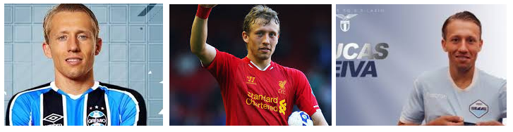 Lucas Leiva at Grêmio , Liverpool FC and SS Lazio