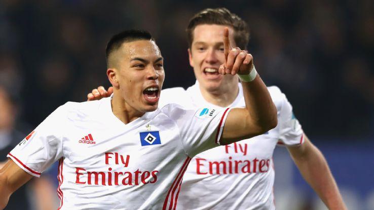 Bobby Wood and Hamburger SV 2017-18
