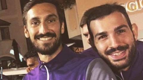 Davide Astori with teammate Riccardo Saponara