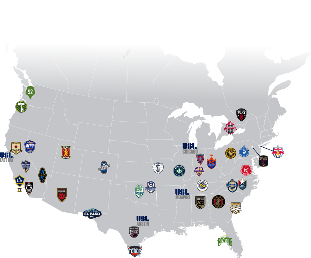 2018 USL Footprint Map.png