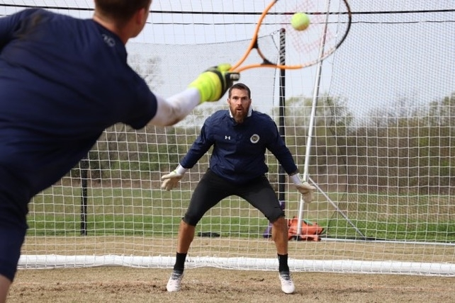Goalkeepers are so strange. But coach hitting tennis balls at Pickens seems to be working. (source: @NashvilleSC Twitter)