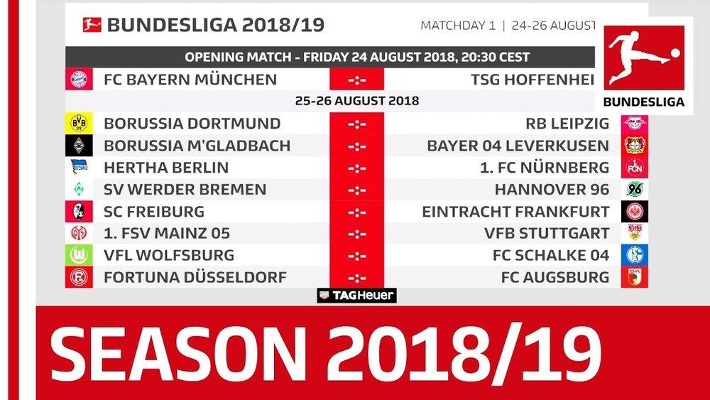 Bundesliga week 1 fixtures