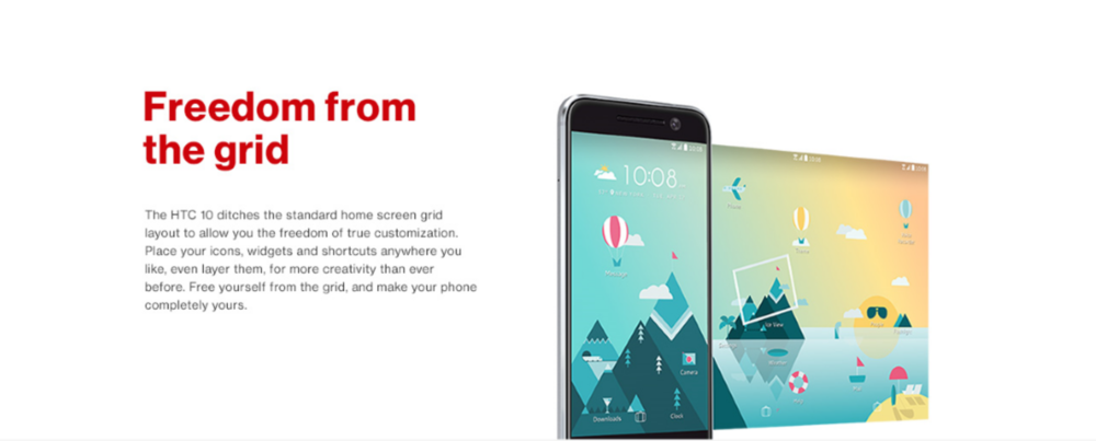 HTC 10 Product Display Page - Key Feature
