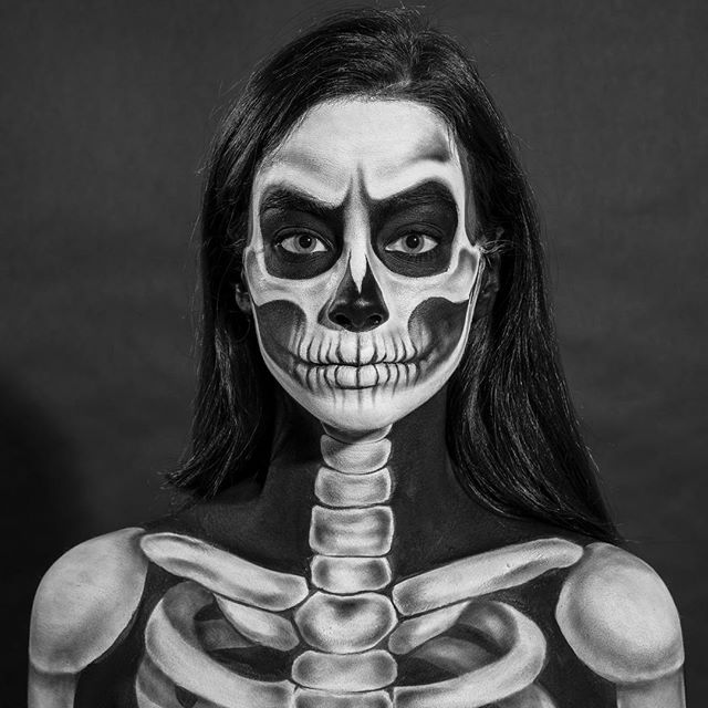 Just in time for #Halloween! 💀💀💀💀. Photographed for The New York Times magazine #kids •  17 year old Kate Werner aka @beautygonebad who is a self taught artist of special effects and makeup. Amazing to watch this look come together, flip through to see it in reverse!