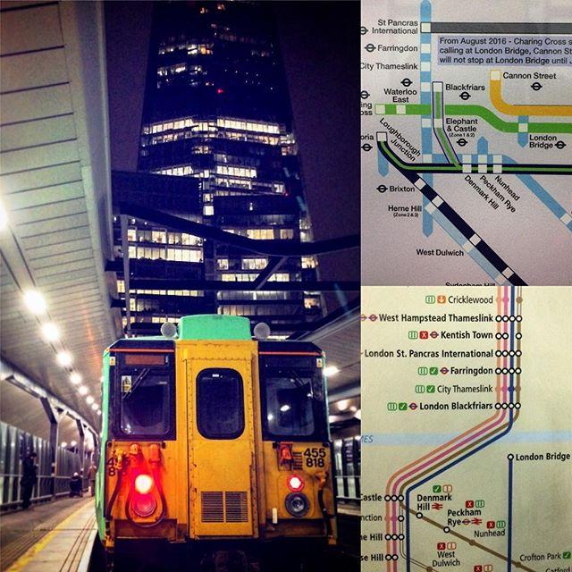#train #station #londonbridge #london #uk #shard #railway #city #lights #night