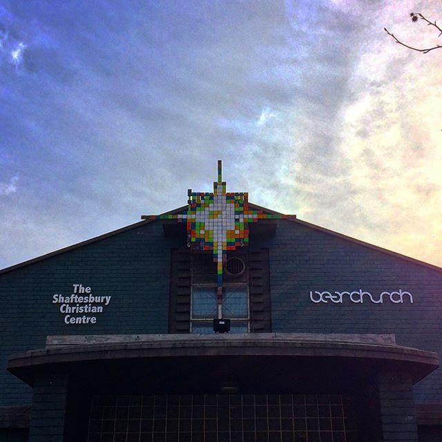 Bear church.  Holy 🐻! My kind of church! 😎 #london #christian #bear #animal #church