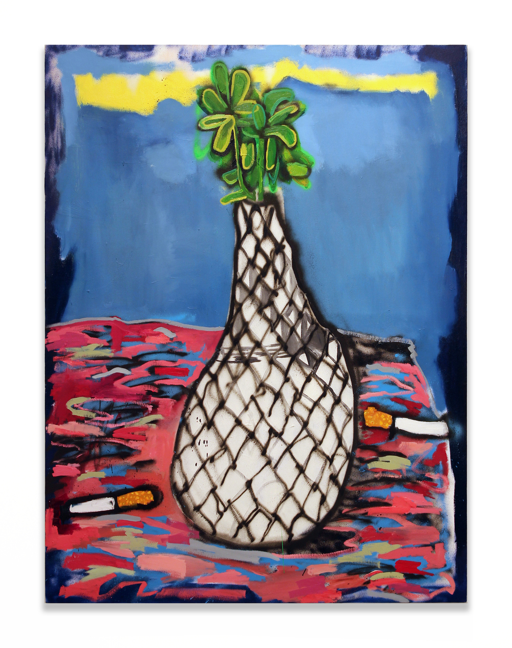 Vase and Plant with Cigarettes