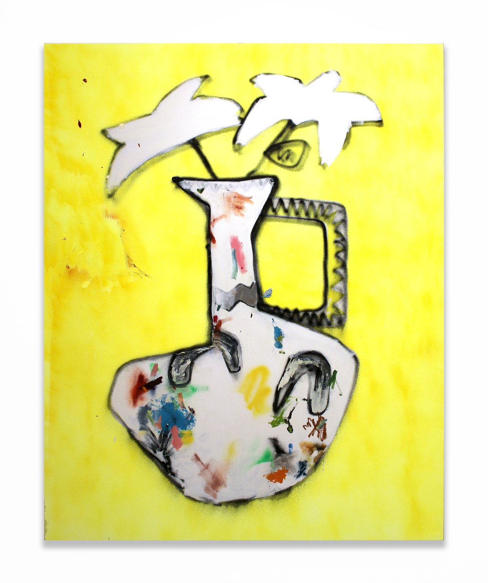 Flower and Vase (Yellow)