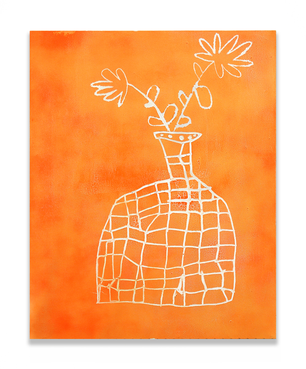 Vase and Flowers (Orange)