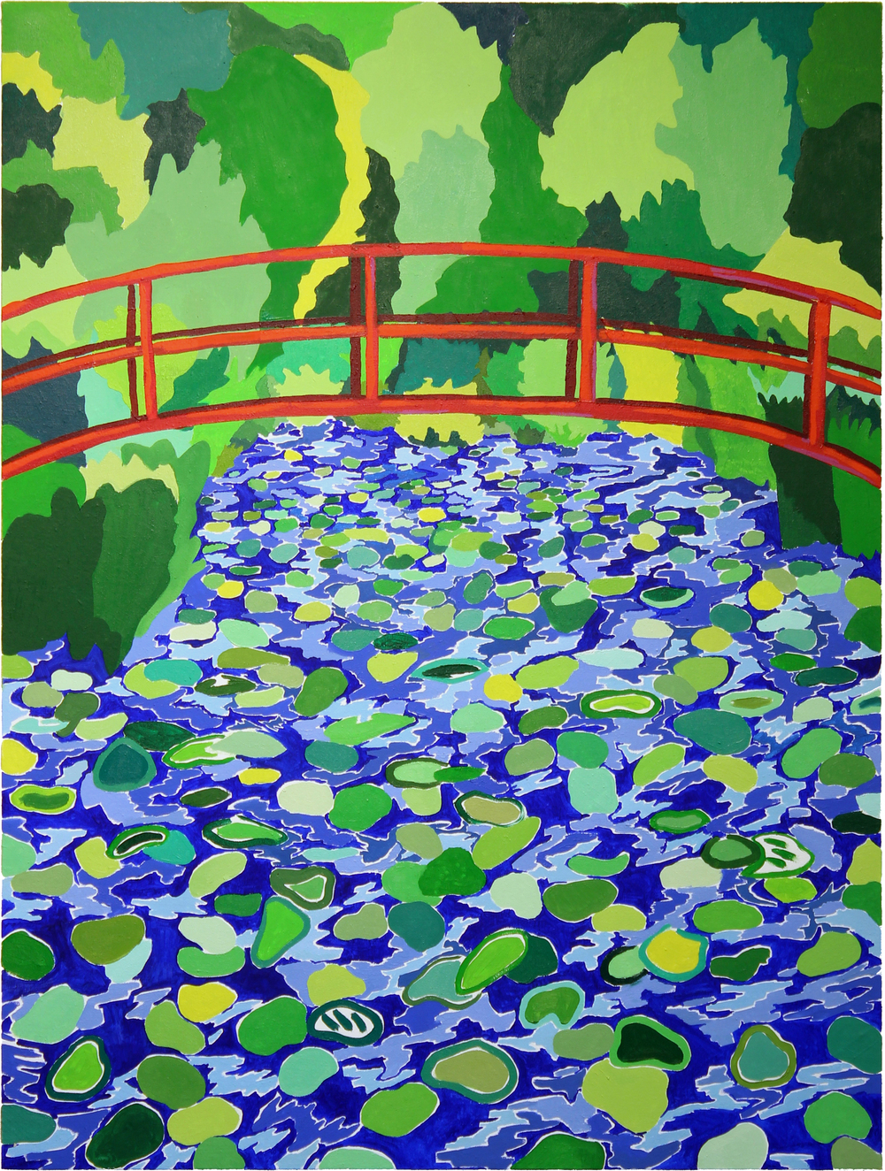 The Bridge at Giverny  2016  Oil on Canvas over panel  48x36 inches