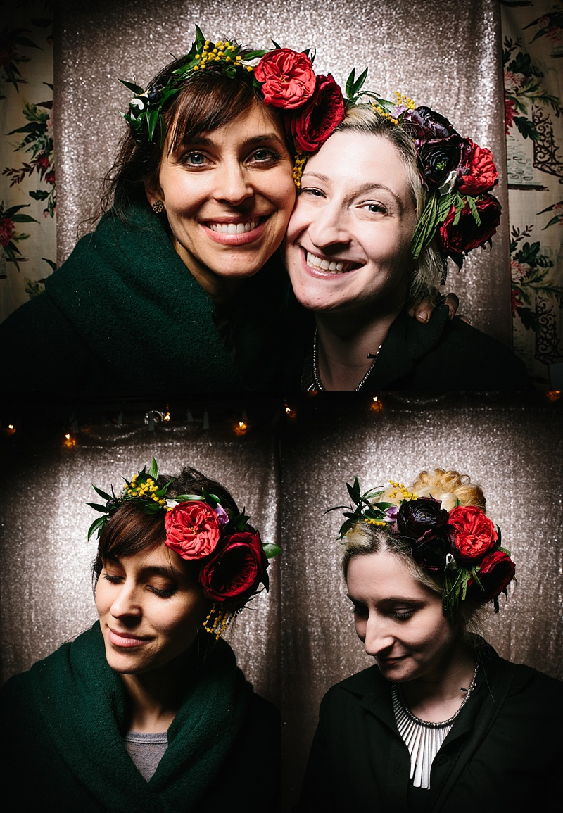 AMAZING flower crowns by Apotheca Flower Shoppe (Photo from Wild Eye Photobooth)