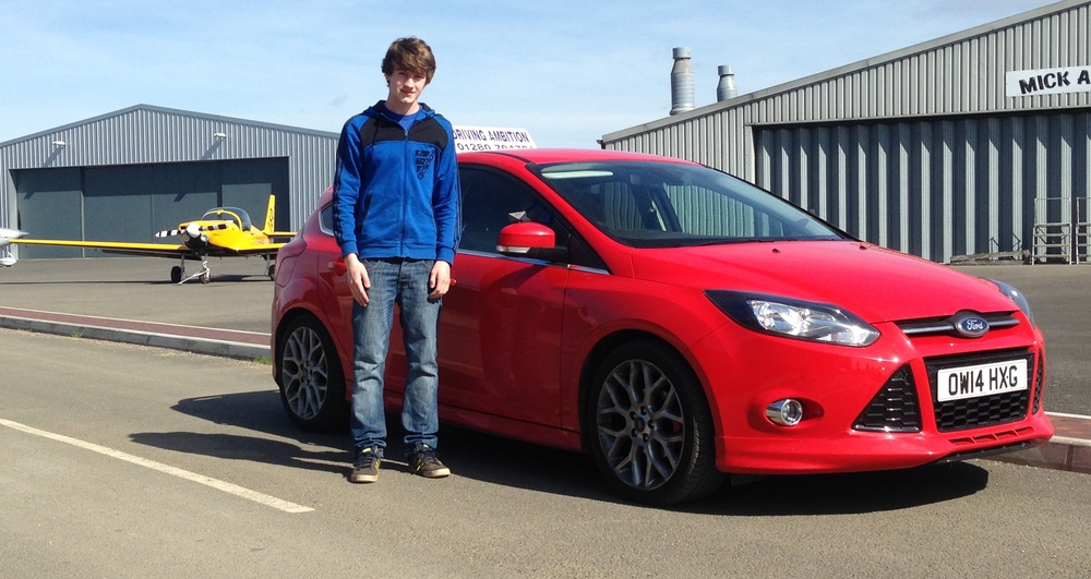 James Dee (16) off road lesson 12th April 2015 with Mark Prewett. Well done!