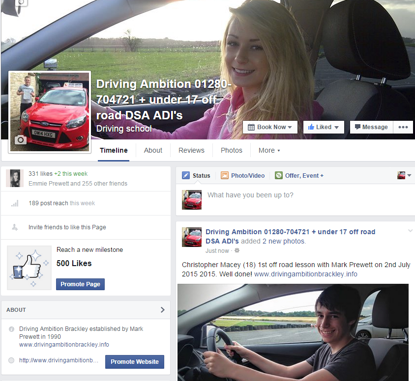 brackley driving lessons on facebook