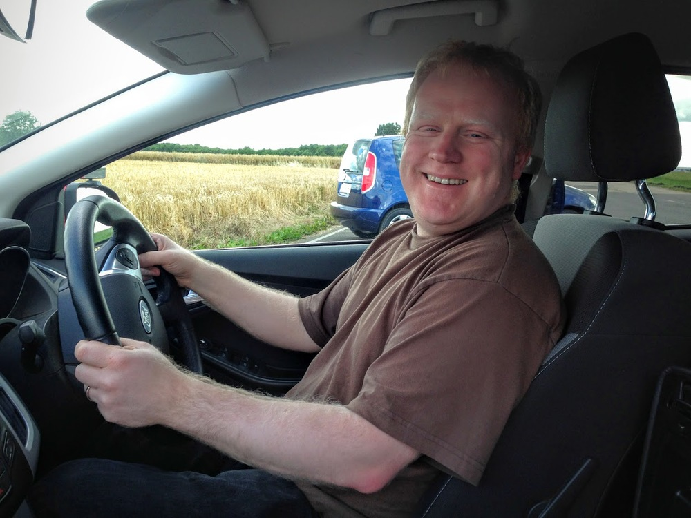 partially sighted off road driving lesson