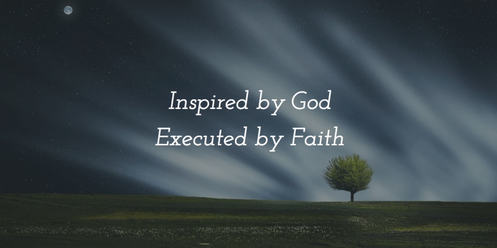 Inspired by God, executed by faith - Maureen Aladin