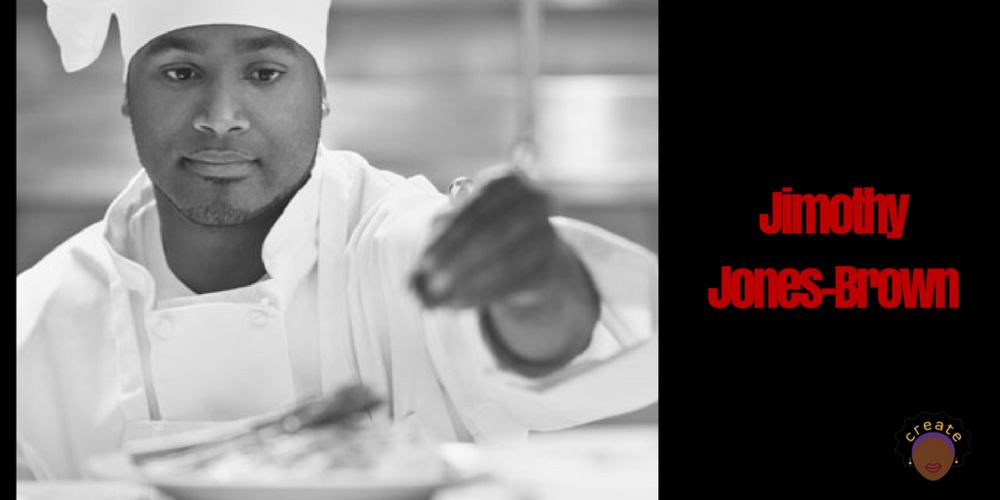 Jimothy Jones-Brown, popular chef, celebrity judge on Wizard Chopped.