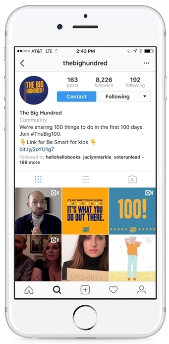 -  Check out how we made positive actions shareable. Follow us on Instagram:  @The Big Hundred.Here's what other people are saying about the project: LA Times, Teen Vogue, LA Weekly, Mashable, and Hollywood Today Live.