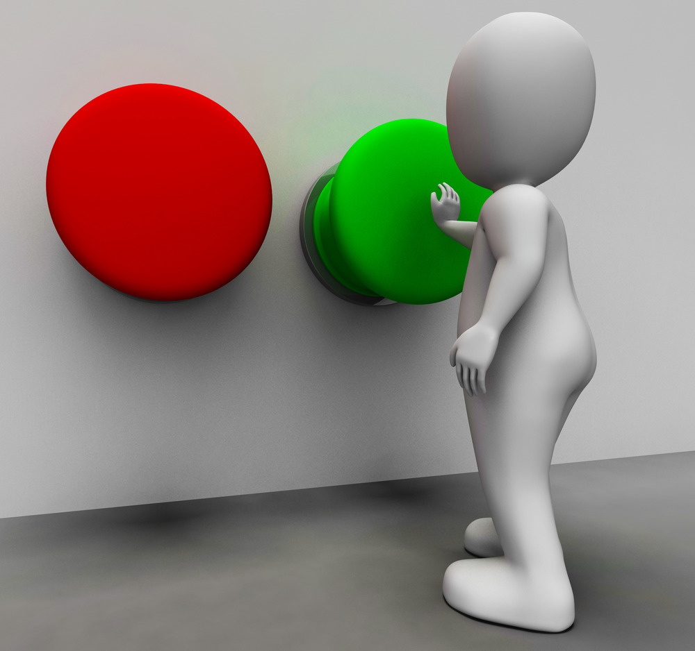 Pushing Green Button Shows Starting
