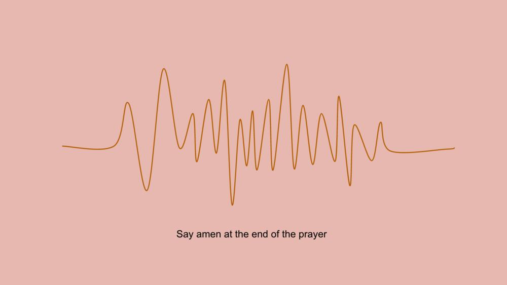Above: Wireframing for prayer website