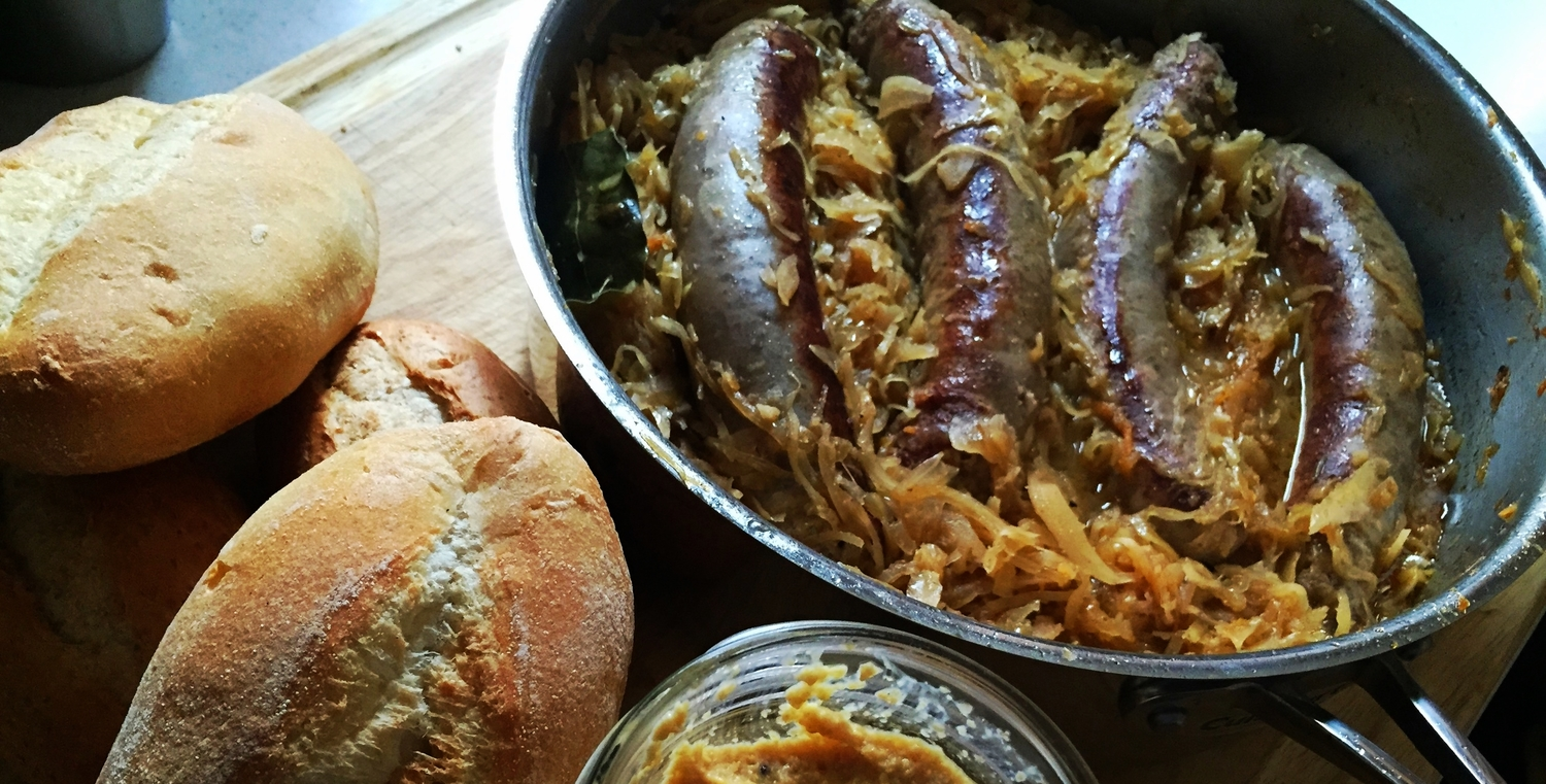 recipe: beer braised brats and cabbage [19]