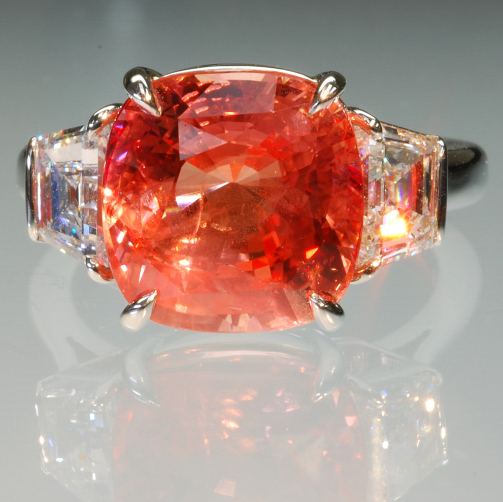 3rd Place 2008 Spectrum Award, Classic Jewelry Division  9ct unheated Padaradscha