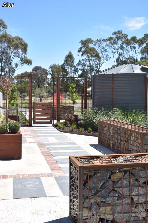 A newly landscaped garden in Clunes, near Ballarat