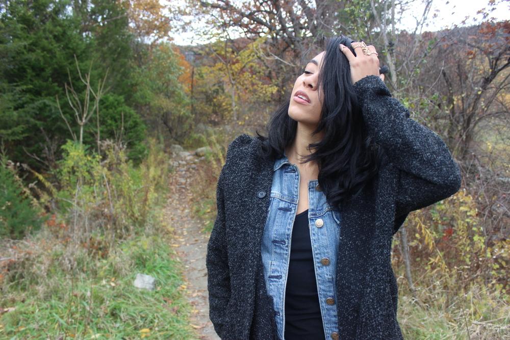 Me among the trees, Upstate NY