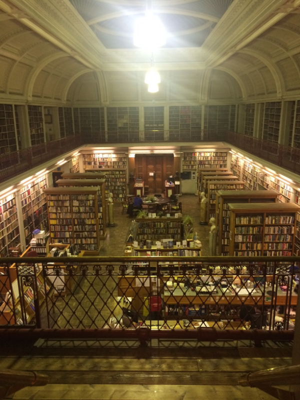 A library I went to in England that had books that were older than America!