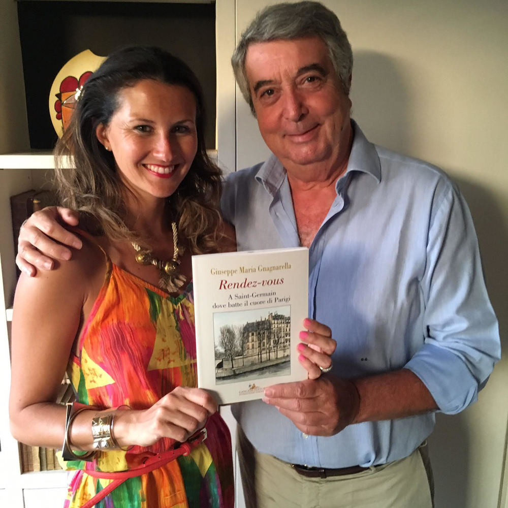Here I am with Pop and his book 'Rendez-vous a Saint-Germain' (Gangemi Editore)