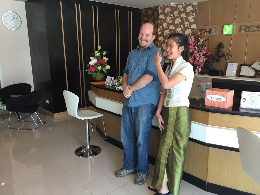 This young Thai woman was convinced she was getting her photo taken with Louis CK despite our numerous attempts to set her right.