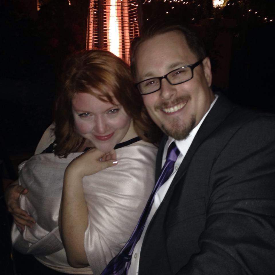 Daniel Tipton with his bride, Dana Powell.