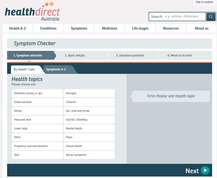 "<font color=""#ffffff"">Healthdirect - Symptom Checker</font>"