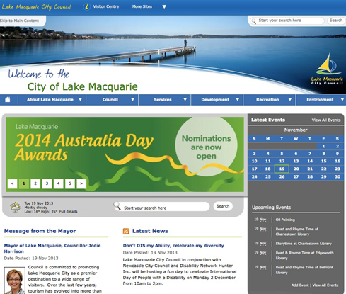 The previous council website