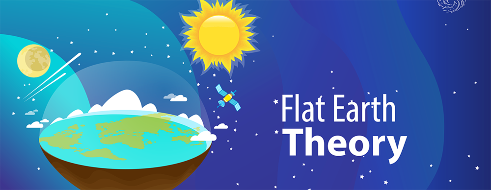 Image of flat earth, a conspiracy theory