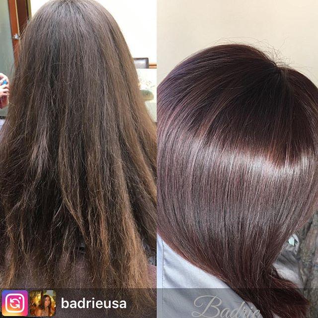 Repost from @badrieusa . . .  #salonetoiles #brunette #wella #wellahair #wellaeducation #colortouch #marylandhairstylist #virginiahairstylist  #healthyhair #renefurturer  #renefurturerusa #redhair #celebrityhairstylist  #straighthair #washingtondc #behindthechair  #modernsalon #americansalon #coiffeur  #certifiedhaircolorists #americansalon #longhair #hair #haircolor #btc #hairstyles