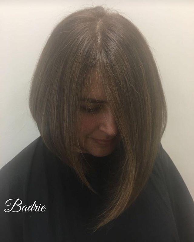 #cascade-stylist #grandrapidsstylist  #bobhaircut  #behindthechair  #modernsalon  #americansalon  #brownhair  #salonetoiles  #tanaz_hair  #staighthair  #blowdry  #haircut  #apriltanaz