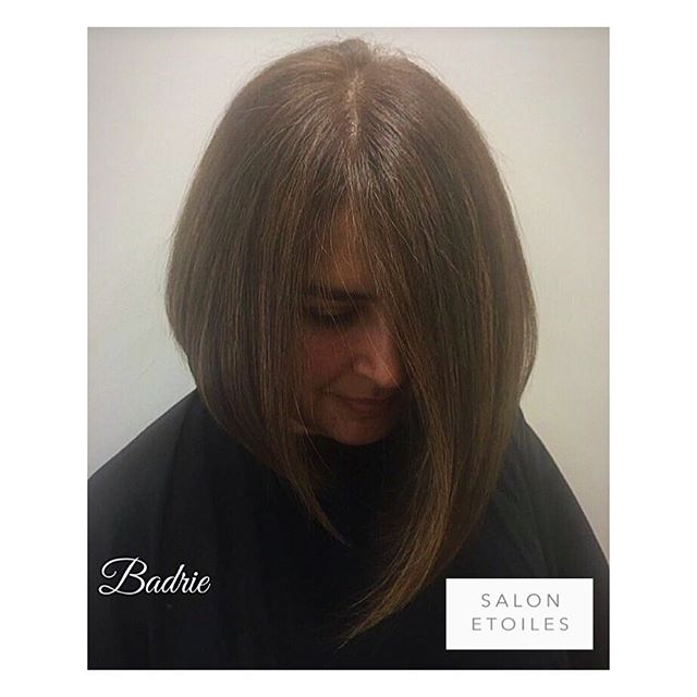 Beautiful #bobhaircut and #blowdry.  Hair by @badrieusa. . . .  #salonetoiles #virginiahairsalon #virginiahairsalon  #behindthechair #modernsalon #americansalon  #brownhair #brunette #staighthair #blowdry #haircut  #brunettehair #hair #celebrityhairstylist #washingtondc #hairstyles #hairstylist #instahair #hairgoals #healthyhair #shinnyhair #shorthair