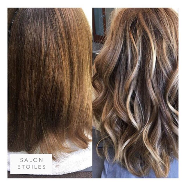 Highlight, cut and colour done on our client, also using #Olaplex to help limit any damage to the hair after coloring.  Hair by @badrieusa . . .  #salonetoiles #wella #renefurturerusa #coiffure #highlights #modernsalon #americansalon #instahair #behindthechair #blondor #wellalife #shorthair #blondehair #wellaeducation #wellacolor #wavyhair #hairtransformation #btc #hair #virginiahairstylist #marylandhairstylist #washingtondc #toner #certifiedhaircolorists #celebrityhairstylist #healthyhair #haircolor #haircolorist