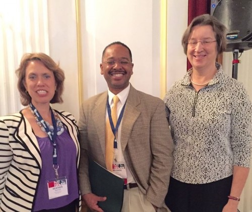 Dr. Rolando Herts (center) with National Heritage Areas program representatives Heather Scotten (left) and Martha Raymond at the National Trust for Historic Preservation's PastForward Conference in Washington, D.C.