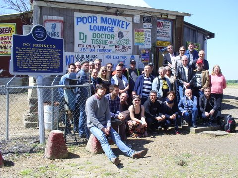 Photo: Swedish Blues fans at Po' Monkey's Lounge in Merigold. Photo by Lee Aylward.