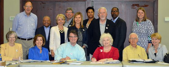 The Board of Commissioners and staff of Volunteer Mississippi met recently at Delta State University's Alumni House. Presentations were given by Dr. Rolando Herts of The Delta Center for Culture and Learning and Linda Stringfellow of the Center for Community and Economic Development.