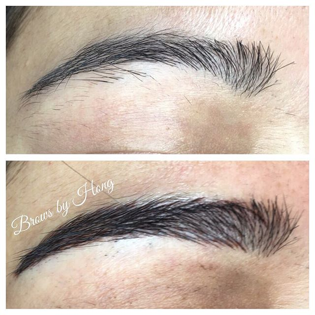 Ombré eyebrows are great for a full makeup look 💖 #eyebrow #eyebrowtattoo #eyebrowembroidery #eyebrows #browshaping #browsculpt #microbladingeyebrows #microblading