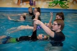 Intermediate & Advanced Skills - Students that have completed PENGUIN, JELLYFISH, LOBSTER, and TURTLE goals will be swimming freestyle with alternate side breathing and proper body positioning. They will know underwater dives, advanced kicks, and advanced backstroke.