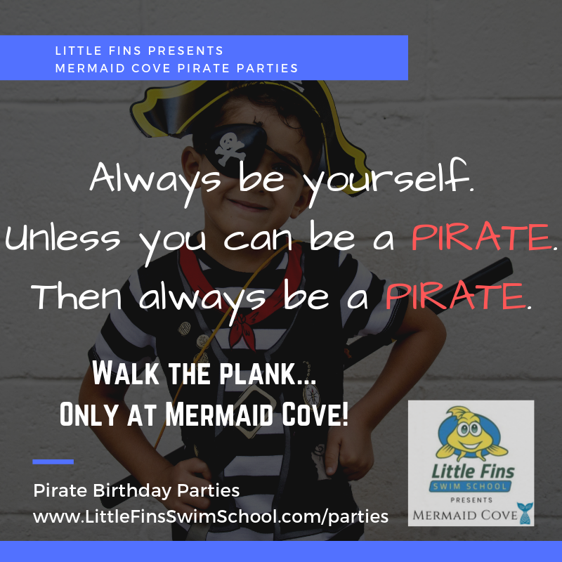 Pirate Party $300 - - 2 hours - Up to 10 children- 1 hour below-deck in our underwater