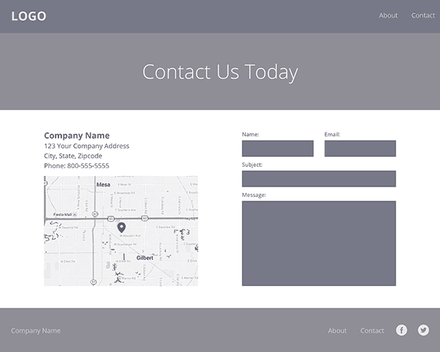 Responsive Contact Page