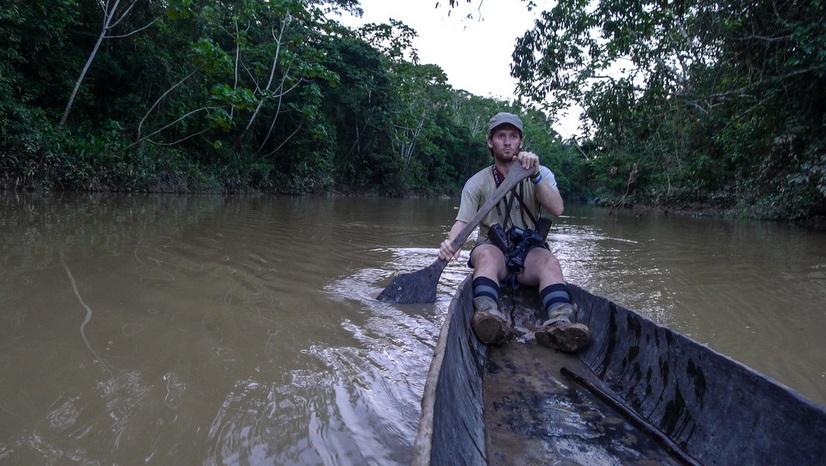Ryan Killackey during the Yasuni Man project in Yasuni National Park
