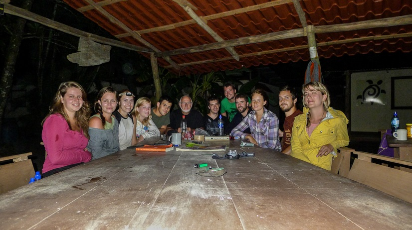 Group of volunteers at La Tortuga Feliz, Costa Rica